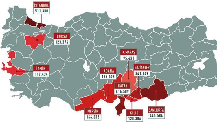 İşte Türkiye'nin 'yabancı haritası'