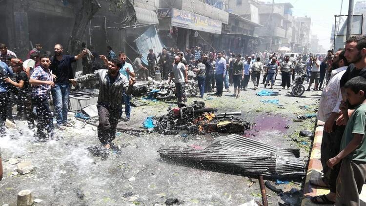 Suriye'nin kuzeyindeki Bab'da eş zamanlı patlamalar