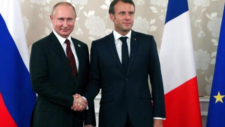 Putin, Macron ile görüştü
