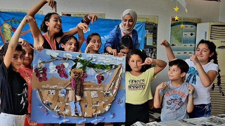 Çocuklar doğa ve sanatla buluştu