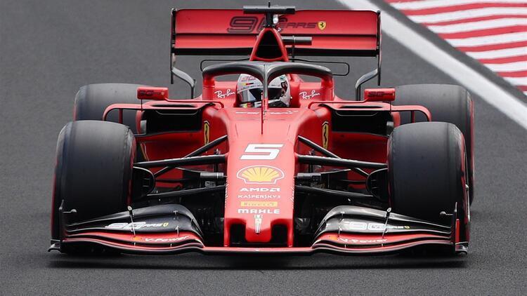 Macaristan'da ilk sıra Vettel'in