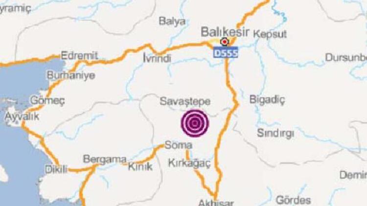 Soma'da 3.4 büyüklüğünde deprem