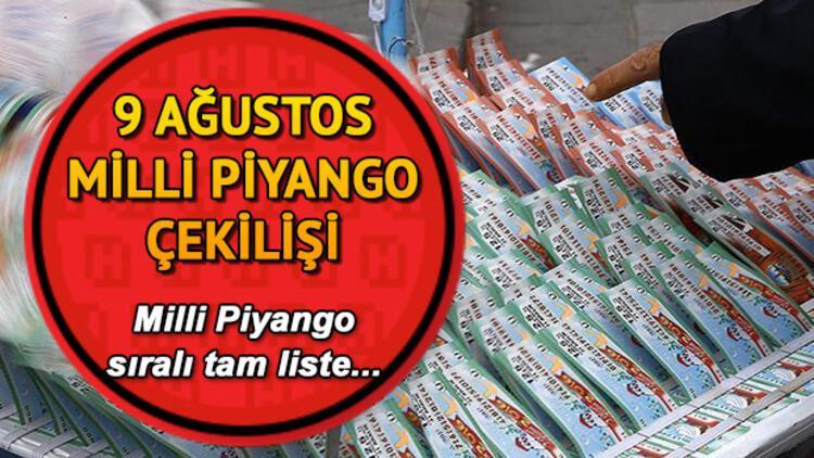 Milli Piyango çekiliş sonuçları açıklandı.. MPİ 9 Ağustos Milli Piyango sıralı tam liste