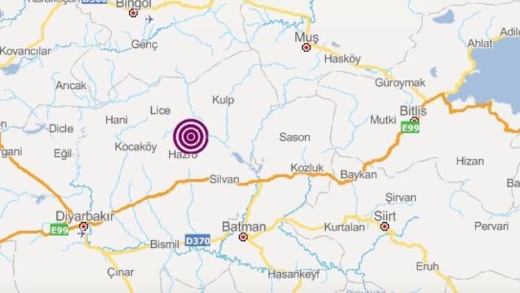 Son dakika: Diyarbakır'da deprem