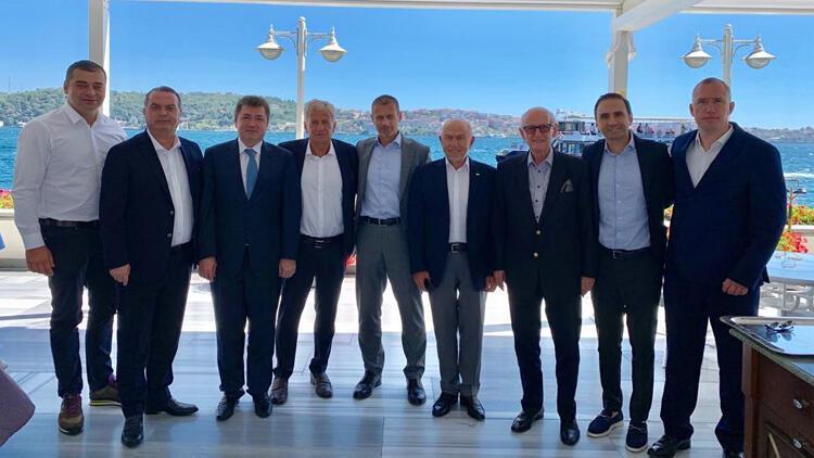 Nihat Özdemir, UEFA Başkanı Ceferin ile bir araya geldi