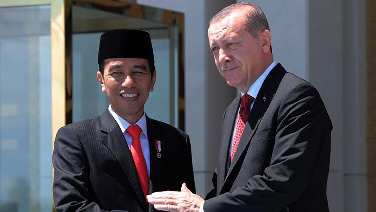 Son dakika... Erdoğan, Endonezyalı mevkidaşı ile görüştü