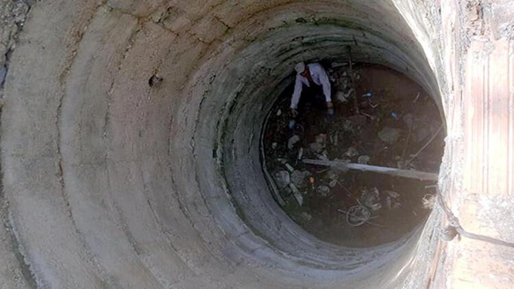 10 metrelik kuyuda kurtarılmayı bekledi