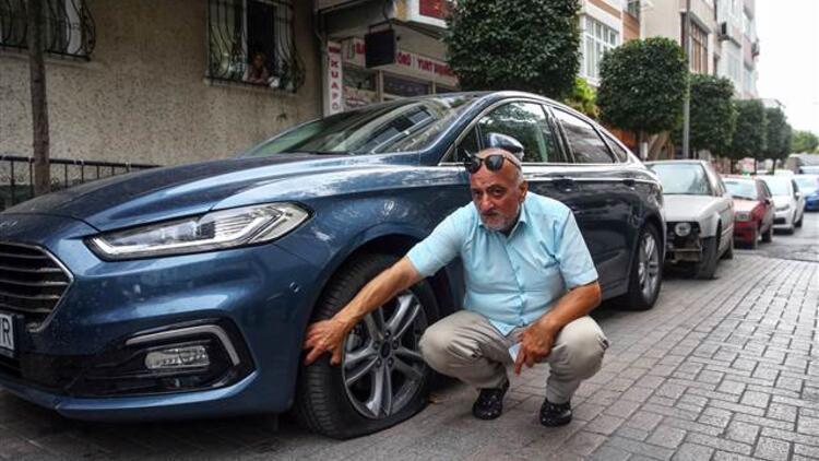 İstanbul'da 10 aracın lastiğini patlatıp kaçtılar