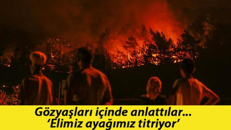 Son dakika... Bekleyiş sürüyor, tüm gözler orada... İşte İzmir'deki orman yangınında son durum