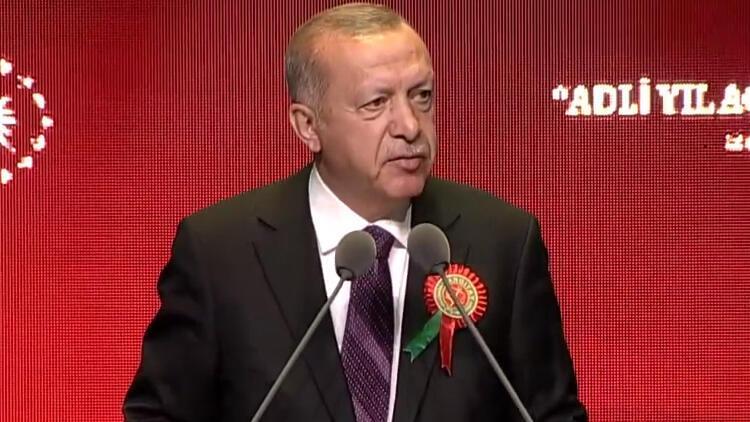 Son dakika: Cumhurbaşkanı Erdoğan'dan Adli Yıl Açılış Töreni'nde önemli mesajlar