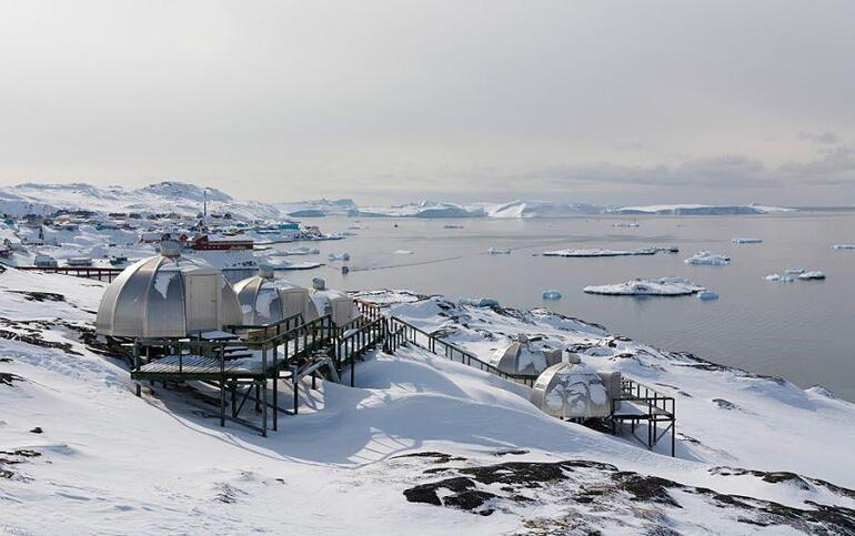 Grönland'da sıcaklık yazın bile sıfırın altında