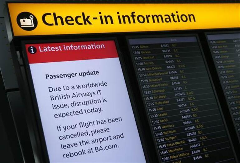 Bilgisayar arızası yüzünden 100e yakın British Airways uçuşu iptal