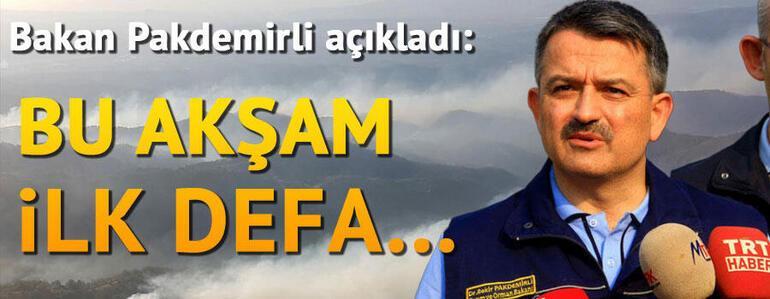 Son dakika... Bekleyiş sürüyor, tüm gözler orada... İşte İzmirdeki orman yangınında son durum