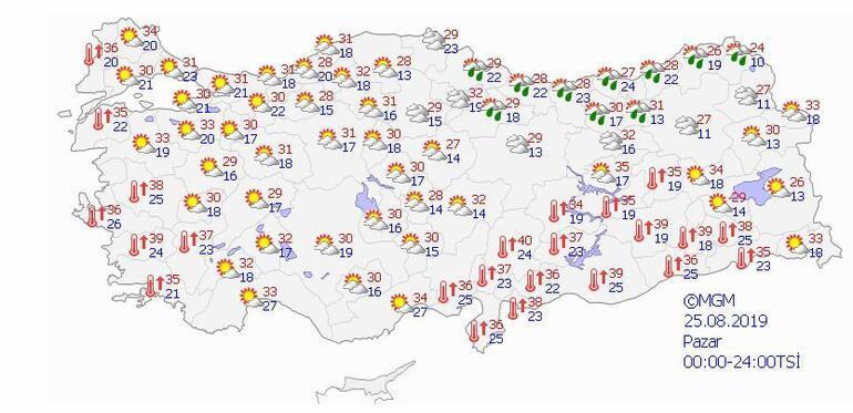 Son dakika hava durumu uyarıları: Sıcaklık 40 dereceyi bulacak