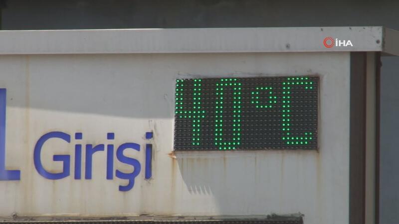 İstanbul'da termometreler 40 derece