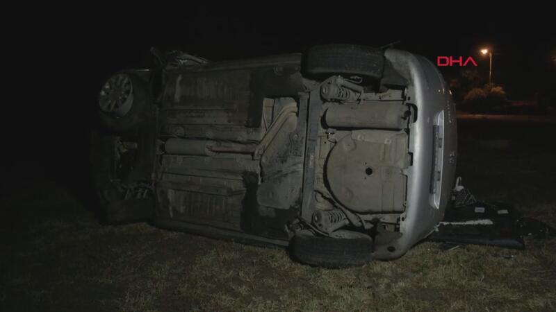 15 yaşındaki çocuğun kullandığı otomobil devrildi 1 ölü, 5 yaralı