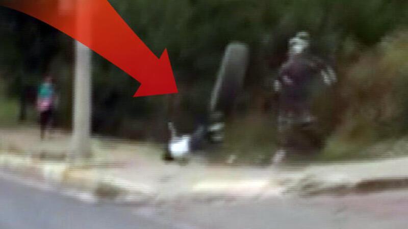 Fırlayan kamyon lastiği çocuğa çarptı