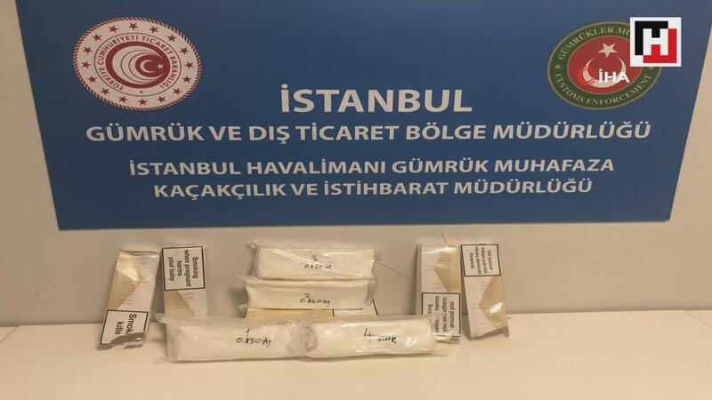 İstanbul Havalimanı'ında 34 kilogram 20 gram kokain ele geçirildi