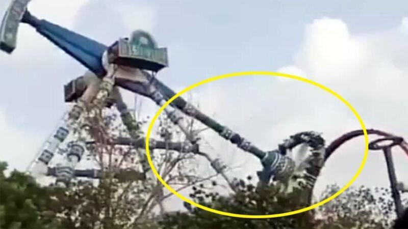Hindistan'da lunaparkta kaza: Ölü ve yaralılar var