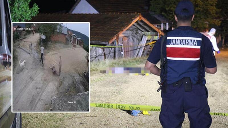 Karabük'teki cinayet anları kameraya böyle yansıdı
