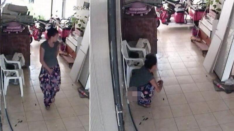 Hırsızlık için girdiği işyerine tuvaletini yaptı