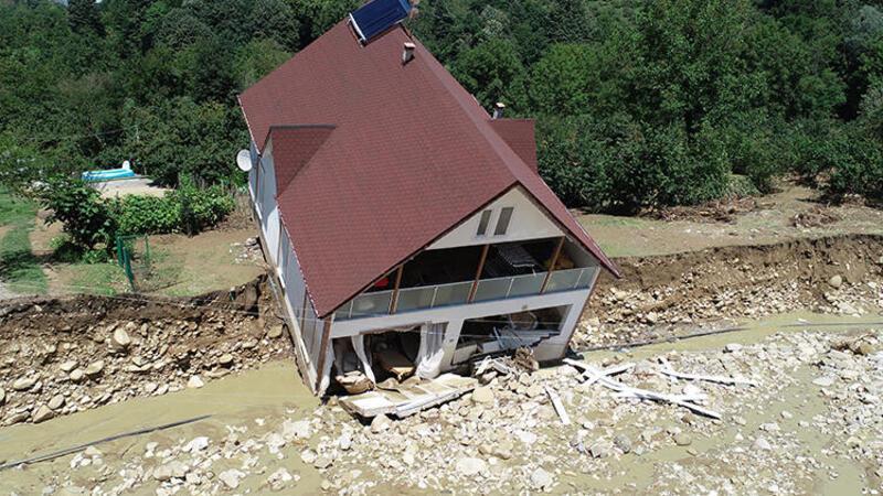 Düzce'deki felaket havadan görüntülendi