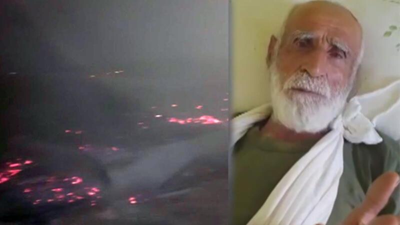 27 yıl sonra mezrasına dönen adamı darbedip evini yaktılar