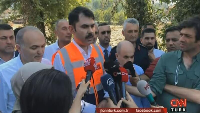 Bakan Kurum, Düzce'deki sel felaketi hakkında konuştu