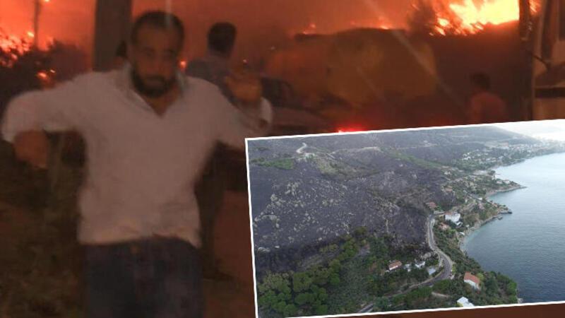 Marmara Adası'ndaki orman yangınında 80 hektar kül oldu