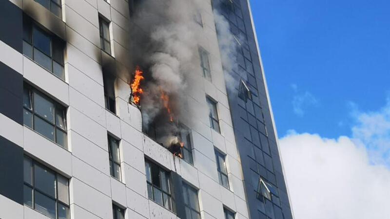 Ümraniye'de korkutan yangın