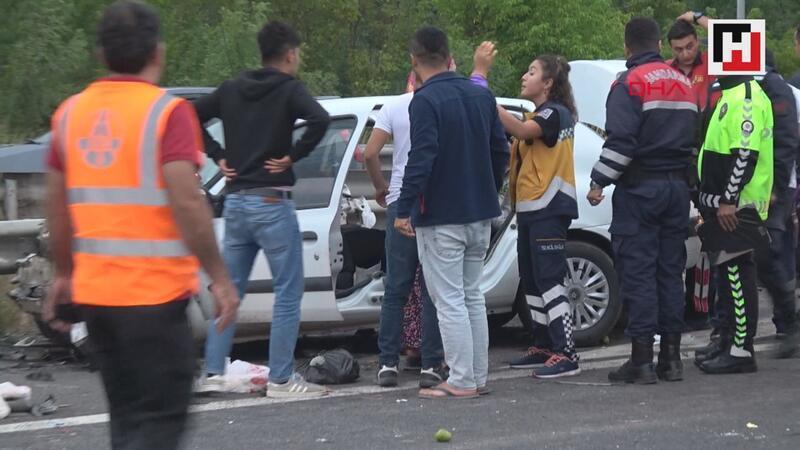 Bolu TEM Otoyolu'nda kaza