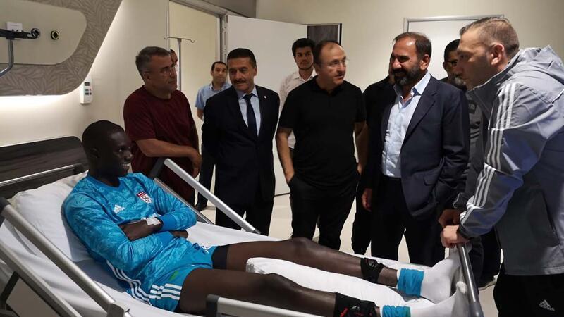 Sivasspor kalecisi Samassa'nın sağlık durumu