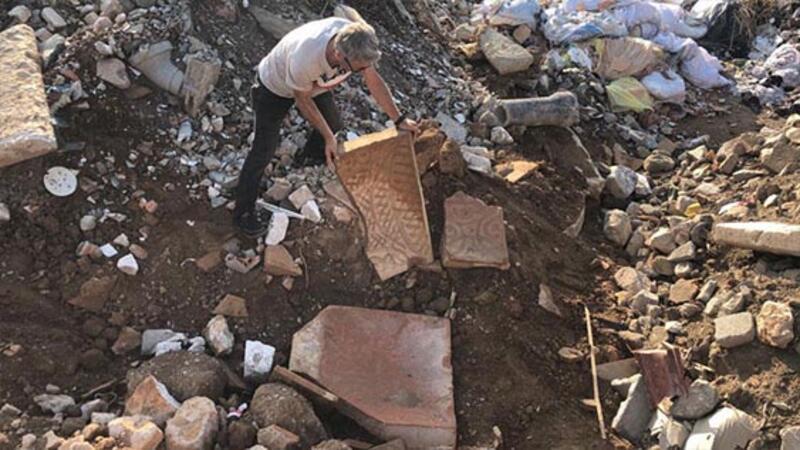 İznik'te tarihi eser molozların arasında bulundu