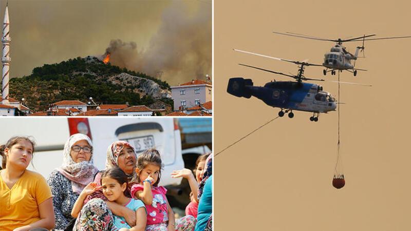İzmir'deki yangın devam ediyor