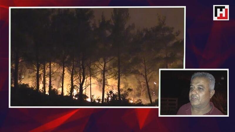 Karabağlar'da başlayan orman yangını iki mahalleye yaklaştı
