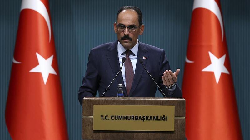 Cumhurbaşkanlığı Sözcüsü İbrahim Kalın, basın mensuplarına açıklamalarda bulundu
