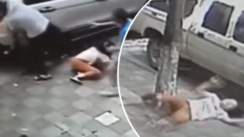 Boşanma duruşması öncesi karısına motorla çarpıp, palayla saldırdı