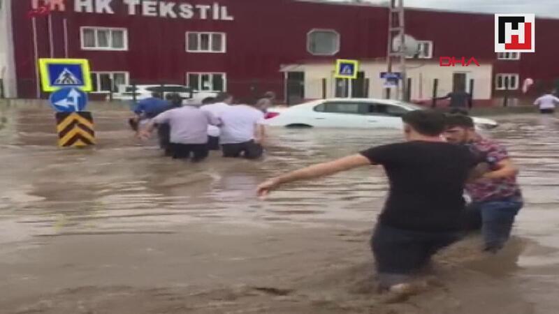 Samsun'da sağanak 1 kişi öldü