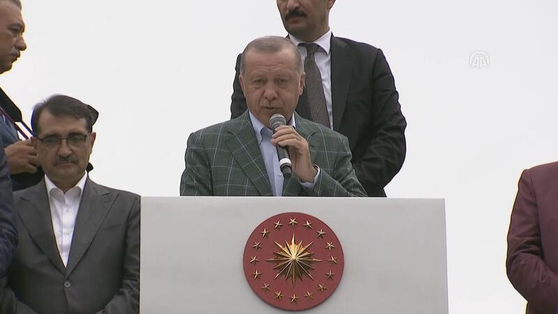 Cumhurbaşkanı Erdoğan, Artvin'in Yusufeli ilçesinde halka hitap etti