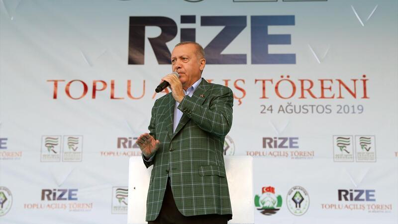 """Cumhurbaşkanı Erdoğan: """"Rize-Artvin Havalimanı'nın 1,5 yıl içerisinde hizmete alınacağız"""""""
