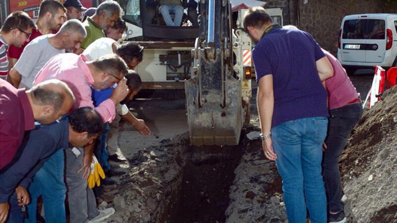 Erzurum'da altyapı çalışmalarında insan kemikleri bulundu