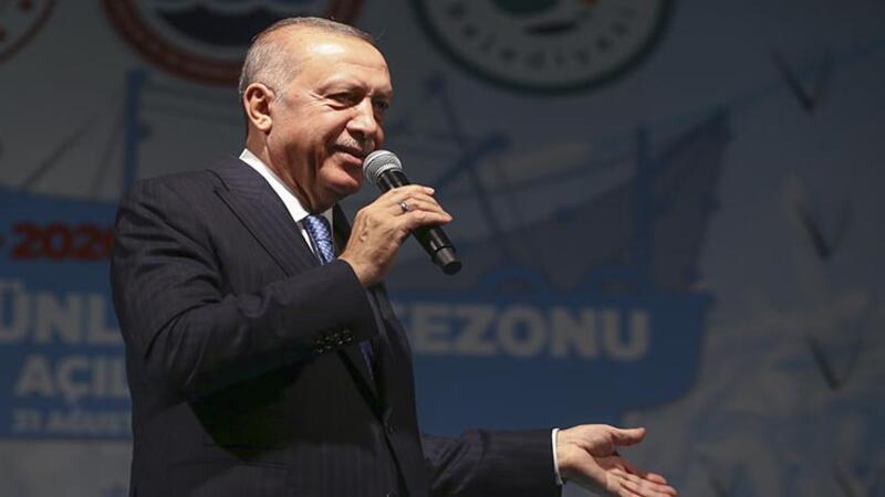 """Cumhurbaşkanı Erdoğan, """"2019-2020 Su Ürünleri Av Sezonunun Açılış Programı""""na katıldı"""