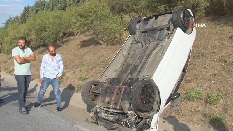 Kazaya sebebiyet veren taksi sürücüsü yoluna devam etti