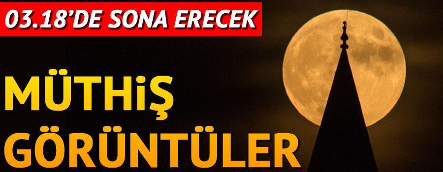 İstanbulda Parçalı Ay Tutulması gerçekleşiyor